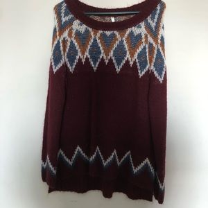 Sweater blue and Burgundy Kate collection sweater
